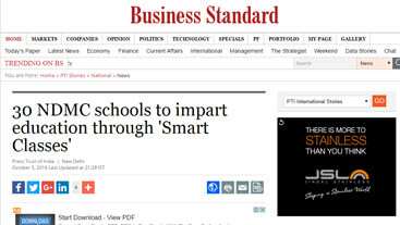 30 NDMC schools to impart education through Smart Classes